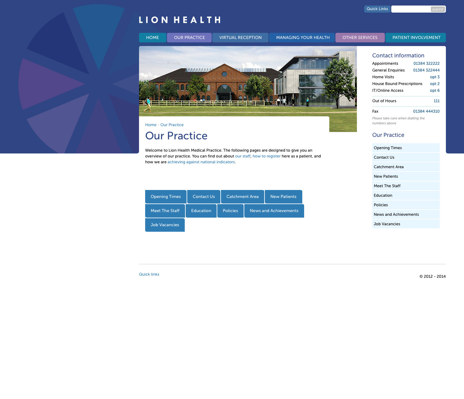 GP Surgery Website image